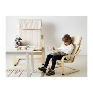 Ikea-Childrens-Poang-Kids-armchair-birch-veneer-Almas ...