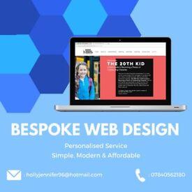 Bespoke, Affordable Webdesign