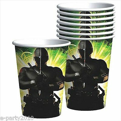 GI JOE Rise of Cobra 9oz PAPER CUPS (8) ~ Birthday Party Supplies Beverage Drink - Gi Joe Party Supplies