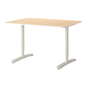 "Ikea Bekant desk 47 1/4x31 1/2 "" birch/white"