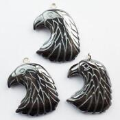 Carved Eagle Pendant Bead
