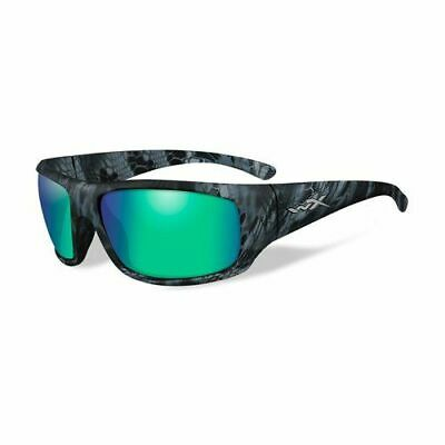 Wiley X Tactical Sunglasses, Omega, Kryptek Nepture, Polarized Emerald Mirror