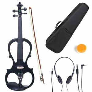 BNIB - Fitted Silent Electric Violin, Metallic Black, Size 4/4