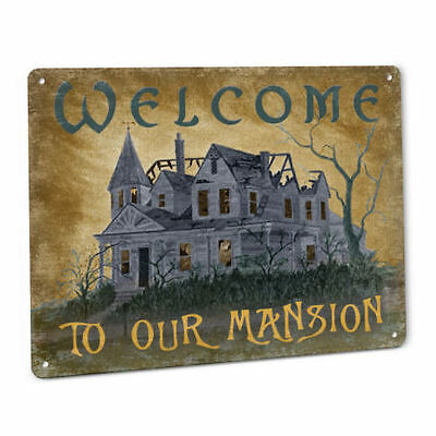 Haunted Mansion Halloween Welcome SIGN House Decor Decoration Prop - Haunted Mansion Halloween Decorations