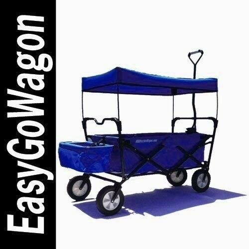 Blue EasyGo Wagon New Folding Wagon With Canopy