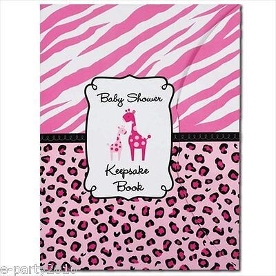 Pink Safari Party (SWEET SAFARI GIRL KEEPSAKE BOOK ~ Baby Shower Party Supplies Favors Pink)