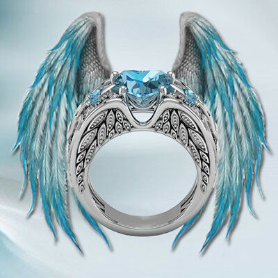 Aquamarine Jewelry - Fashion Jewelry Silver Filled Aquamarine Ring Women Wedding Bridal Gifts Sz 6-10