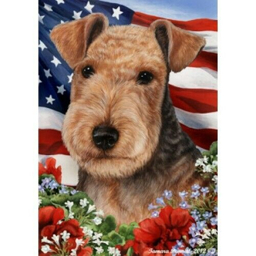 Patriotic (1) House Flag - Lakeland Terrier 16234