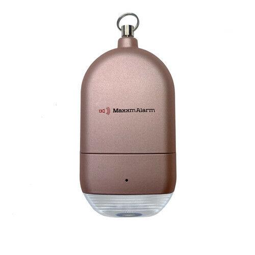 MaxxmAlarm Personal Alarm + LED Light in Rose Gold