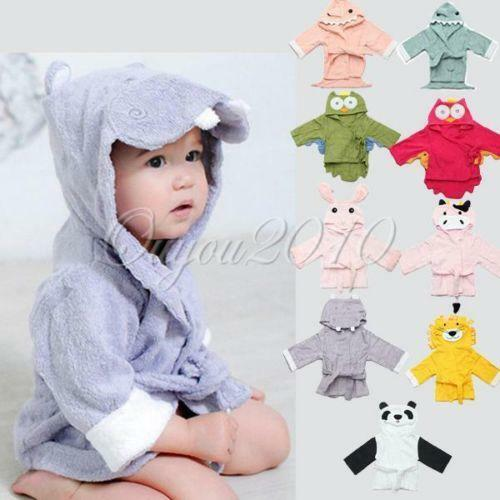 Kids can get cozy in our plush bathrobes and hooded ponchos for boys and girls. These are the perfect addition to a favorite pair of pajamas. Ponchos are made from soft fabrics and often feature your little one's favorite movie characters. Most are made from terry cloth, velour or polyester.