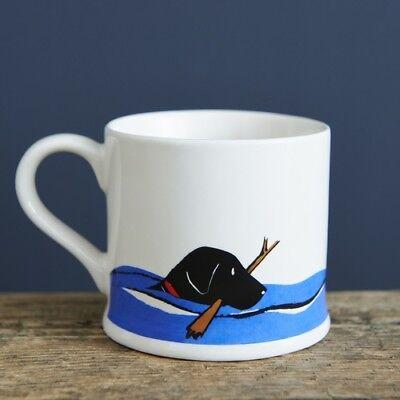Sweet William BLACK LABRADOR Dog Mug | Great Gift for Labrador Lovers | FREE P&P