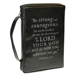 Be-Strong-Courageous-Large-Size-Black-Leather-Look-Bible-Cover-364210