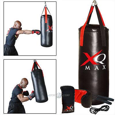 Profi Boxsack Boxset Sandsack Gefüllt Halterung Boxhandschuhe 12 oz Springseil