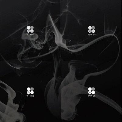 BTS-[Wings]2nd Album Random Ver CD+96p PhotoBook+1p PhotoCard+Gift K-POP Sealed