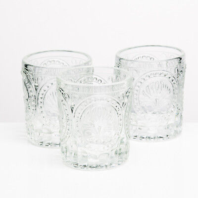 Richland Votive Holder Clear Textured Glass Set of 12 Candle Home Wedding Event