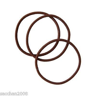 MUJI MUJIRUSHI Hair Rubber Band Color:Brown Three pieces from Japan