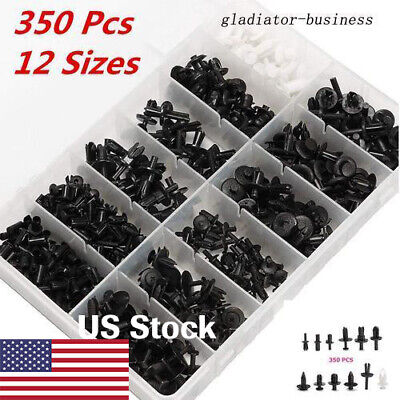 350pcs Car Autos Push Retainer Pin Rivet Trim Clip Panel Mould Parts Assortments