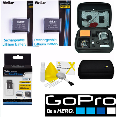 Battery for GoPro HD Hero5 BLACK X2 AABAT-001 FAST CHARGER