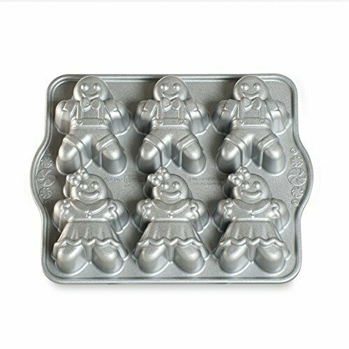 Nordic Ware 86948 Gingerbread Kids Cakelet Pan