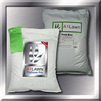 PLATINUM PRO GRASS SEED WITHOUT RYE 5kg & WEED, FEED & MOSS KILLER 10kg BUNDLE