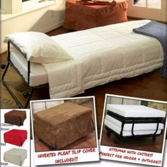 Convertible Guest Single Bed Ottoman