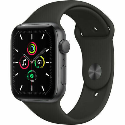 Apple Watch SE 40 mm GPS caja de aluminio gris espacial, correa deportiva negra