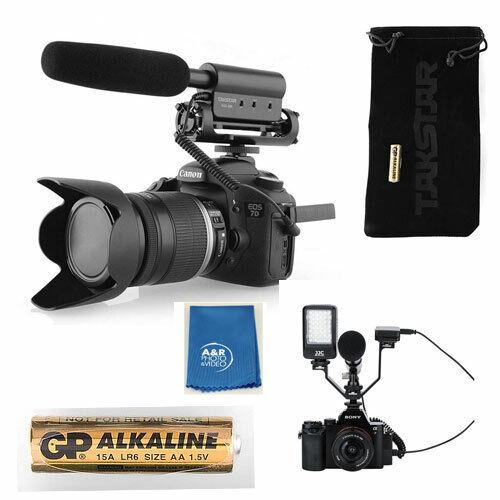 TAKSTAR SGC-598 Interview Microphone for Nikon/Canon Camcorder +Triple VBracket