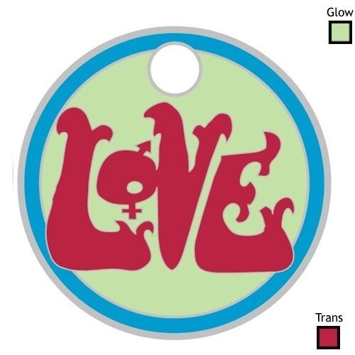 the band LOVE forever changes RARE LIMITED EDITION PATHTAG with glow & trans NEW
