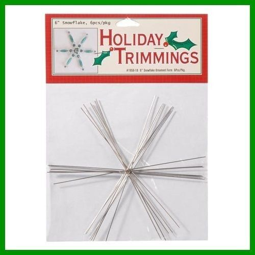 """SNOWFLAKE Wire FORM 6"""" Lot of 6 FLAKES ~U Add Beads ~ Dream catcher Potential"""