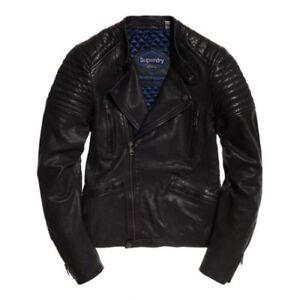 Superdry Indy Circuit Racer Leather Jacket Mens