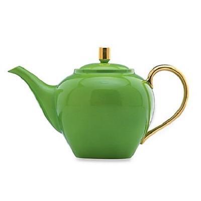 LENOX ~ KATE SPADE ~  Greenwich Grove TEAPOT  TEA KETTLE  32 oz ~  GREEN  NIB
