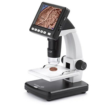 Ivation Portable Digital Hd Lcd Microscope Rechargeable 14mp Microscope W220x