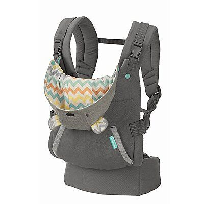 Infantino Cuddle Up CARRIER, Adjustable Ergonomic Hoodie BABY CARRIER, Grey