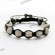 Czech Crystal Disco Ball Shamballa Bracelets