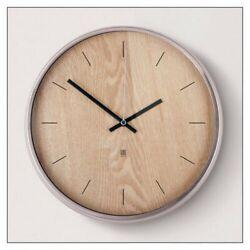 NEW NIP Umbra Madera Wall Clock, Natural/Nickel $50