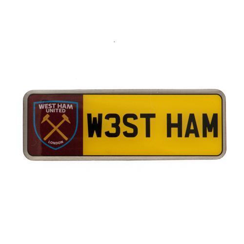 West Ham United Utd Fc Number Plate Badge