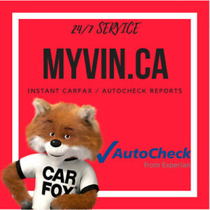 24/7 Instant CARFAX / AUTOCHECK Car History Report - $10
