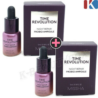 MISSHA Time Revolution Night Repair Probio Ampoule 5ml 2EA Korean Best Skin