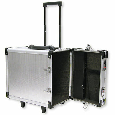 Aluminum Rolling Travel Jewelry Sales Carrying Case 16 38 X 9 38 X 15 12