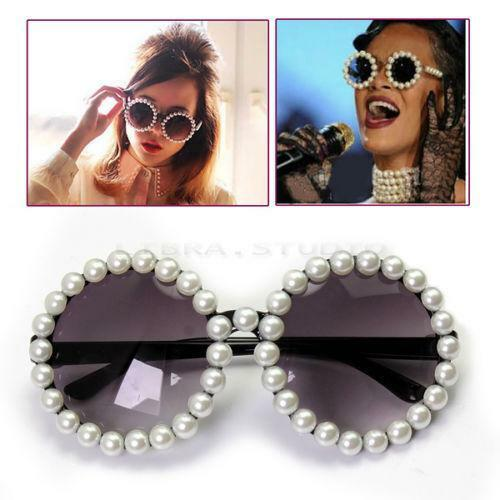 Trendy DIY of sunglasses with pearl