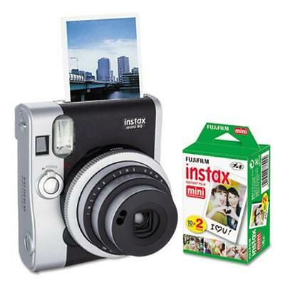 Fuji 600016090 Instax Mini 90 Neo Classic Camera Bundle, Auto Focus, Black