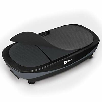 LifePro Rumblex Max 4D Black Vibration Plate Exercise Machine with Loop Resis...