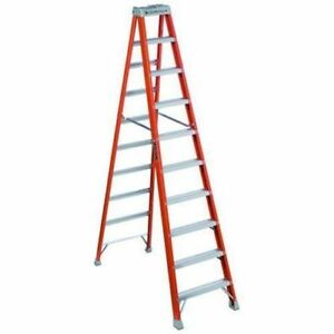 Louisville Ladder FS1510 10-Foot Duty Fiberglass Step Lad NEW