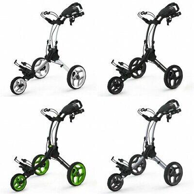 Clicgear Rovic RV1C Compact 3 Wheel Push Cart Golf Trolley 4 Colours