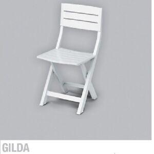sedia plastica pieghevole in resina 100 modello gilda On sedia plastica bianca