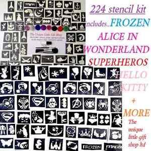 GLITTER-TATTOO-KIT-224-boys-girls-seasonal-midi-mini-stencils-glitters-UK-made