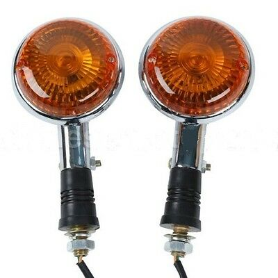 Yamaha Turn Signals NEW PAIR AMBER LENS Front / Rear Indicator Winker Blinker