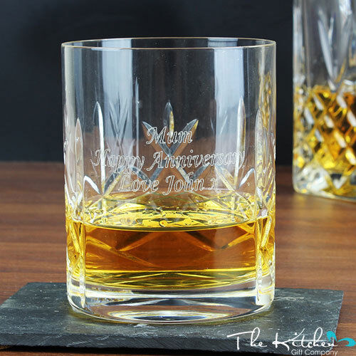 Personalised Whisky Glass Engraved Tumbler Brandy Gin Whiskey Cognac Any Message