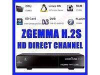 2017 ORIGINAL ZGEMMA H.2S DUAL CORE SATELLITE RECEIVER DVB-S2 TWIN TUNER + 12 MONTHS GIFT