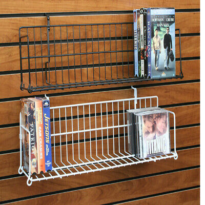 Slatwall Gridwall Pegboard Shelf Dvd Cd Book Video Game Display 24 48 10 Pcs